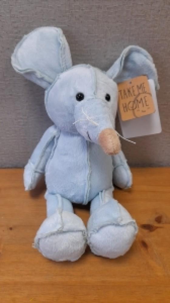 Blue Plush Mouse